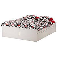 Кровать с ящиками IKEA BRIMNES
