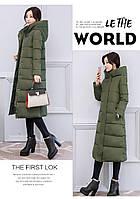 Женское зимнее пальто пуховик парка с капюшоном.Замеры в описании!
