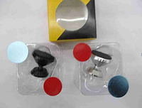 Автомобильный магнитный держатель для мобильного телефона Magnetic Car Air Vent КРУГ (серебро, черный)