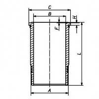 Гильза цилиндра  DEUTZ 1015 - 132mm (04226518)