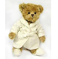 Мягкая игрушка буковски коричневый Мишка в халатике Mr Bukowski, 30 см