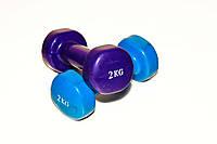 Гантели виниловые 2,0 кг VB20 1 шт