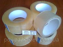 Скотч упаковочный 200м.*48мм.*38мкм. прозрачный, прочный, клейкая лента упаковочная купить