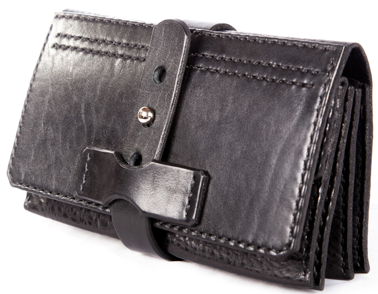 Мужской клатч из кожи краст флотар UKR bag 3-130 черный