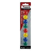 Магниты для досок d-2 см набор 8шт разноцветные