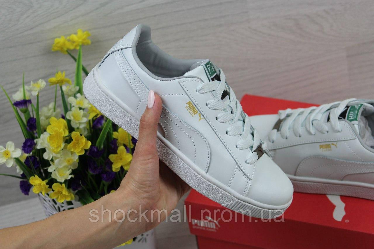 Купить Кроссовки Puma Suede женские белые кожа Вьетнам недорого, выбор  моделей ... 5bbb8ce7b58