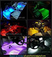 RGB подсветка ног салона—многоцветная 4х15.