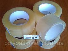Скотч пакувальний 100м*48мм*38мкм прозорий, міцний, клейка липка, універсальна стрічка пакувальна купити