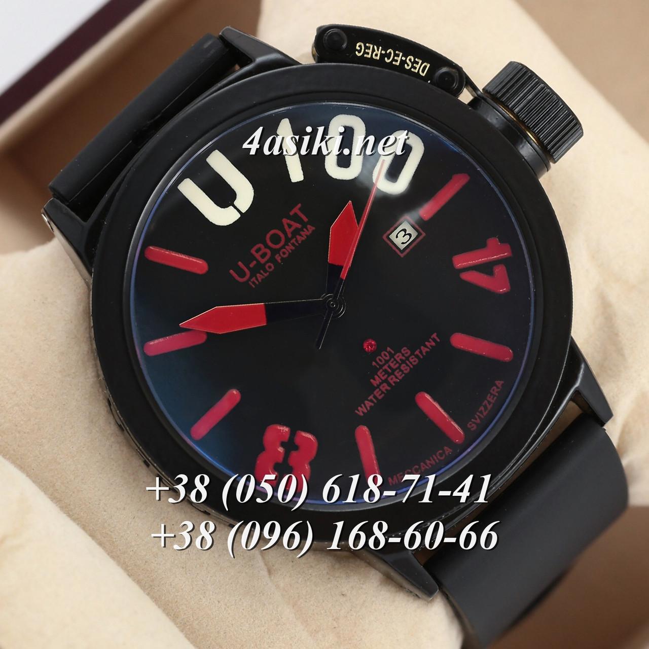 Часы U-boat Italo Fontana U-1001 Classico Black-Black-Red реплика