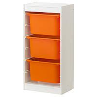 Стеллаж с емкостями, белый IKEA TROFAST