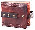 Стильные мужские кошельки из натуральной кожи краст UKR bag 3-1 цвет в ассортименте, фото 2