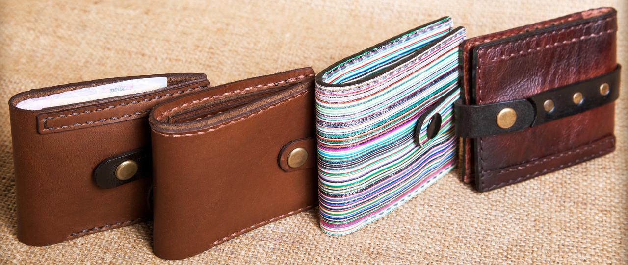 Стильные мужские кошельки из натуральной кожи краст UKR bag 3-1 цвет в ассортименте