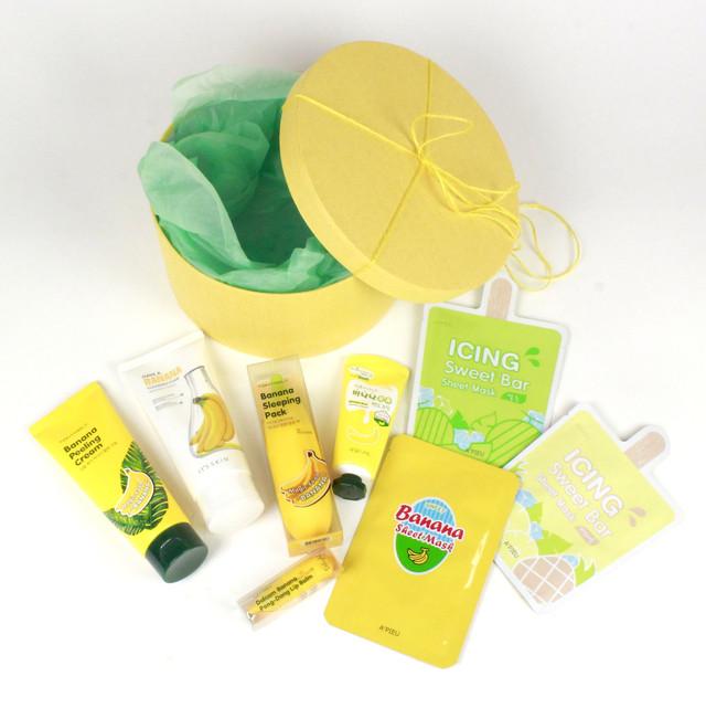 Подарочная коробка круглая желтая STARLOOK пример