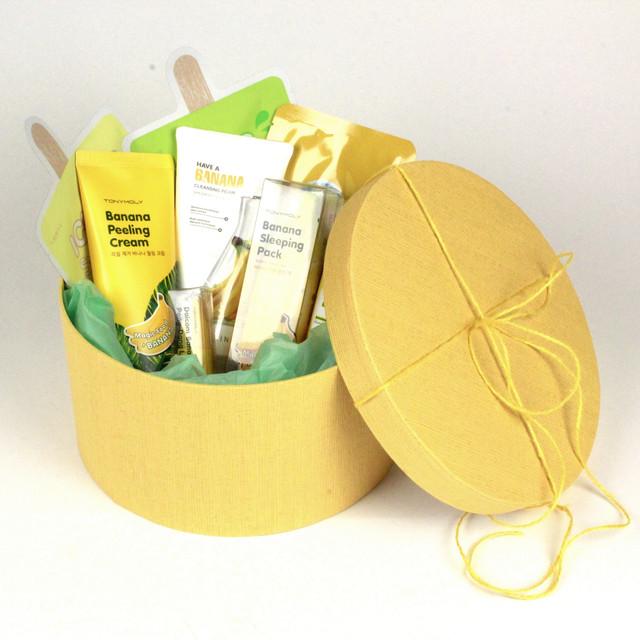Подарочная коробка круглая желтая STARLOOK