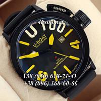Часы U-boat Italo Fontana Classico Black\Black\Yelloy реплика