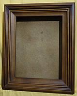 Киот для иконы ровный, покрытый мастикой, с деревянным багетом., фото 1