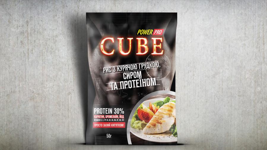 Power Pro Каша CUBE с куринной грудкой и сыром (30% протеина) 50 г