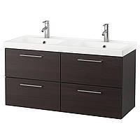 Шкаф для умывальника с 4 ящиками IKEA GODMORGON / ODENSVIK