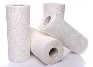 Полотенца бумажные в рулонах