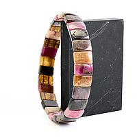 Турмалин разноцветный, браслет, 324БРТ, фото 1
