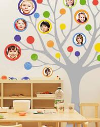"""Виниловая наклейка на стену в детский сад, класс  """"Фото-дерево"""""""