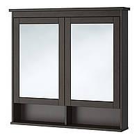 Шкаф с зеркалом и дверью IKEA HEMNES