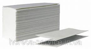 Полотенце бумажное белое целлюлоза V-сложение однослойное 200ШТ/упак PRO SERVICE STANDART, фото 2