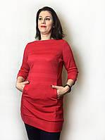 Красная туника с карманами П151