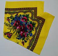 Украинский платок на шею Желтый
