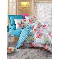 Набор постельного белья сатин печатный 200х220 Cotton box RAINBOW MINT