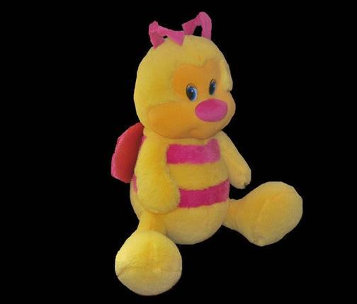 Музыкальная Пчёлка 36 см желто-розовая мягкая детская игрушка, фото 2
