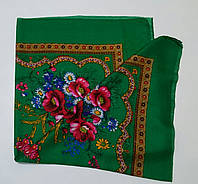Украинский платок на шею Зеленый