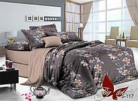 Комплект постельного белья из сатина евро с компаньоном S-117