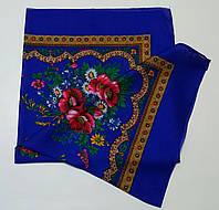 Украинский платок на шею Синий
