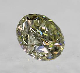 Діамант природний 0.66 Carat L SI1 жовтий 5.46 - 5.51 X 3.48 mm