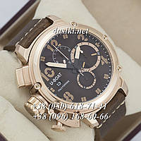 Часы U-boat Italo Fontana Chimera Chronograph Brown-Gold-Brown AAA
