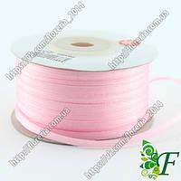 037-Атласная лента 91м. 03мм розовая