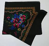 Украинский платок на шею Черный