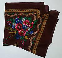 Украинский платок на шею Бордовый