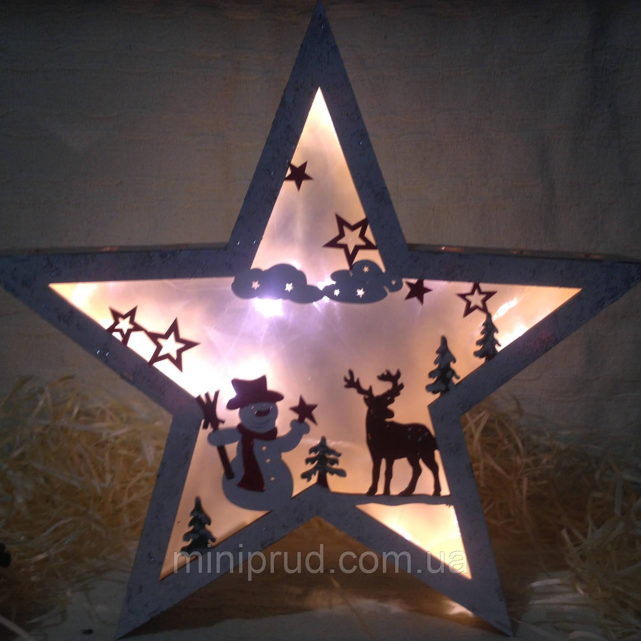 """Новогоднее, рождественское украшение с подсветкой эффект 3Д """"Звезда"""""""