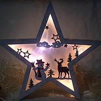 """Новогоднее, рождественское украшение с подсветкой эффект 3Д """"Звезда"""", фото 1"""