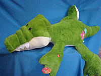 Зеленый Крокодил 90 см мягкая игрушка лежащий крокодил детские плюшевый игрушки