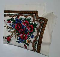 Украинский платок на шею Белый