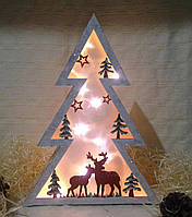 """Новогоднее, рождественское украшение с подсветкой 3Д эффект """"Ёлка"""""""