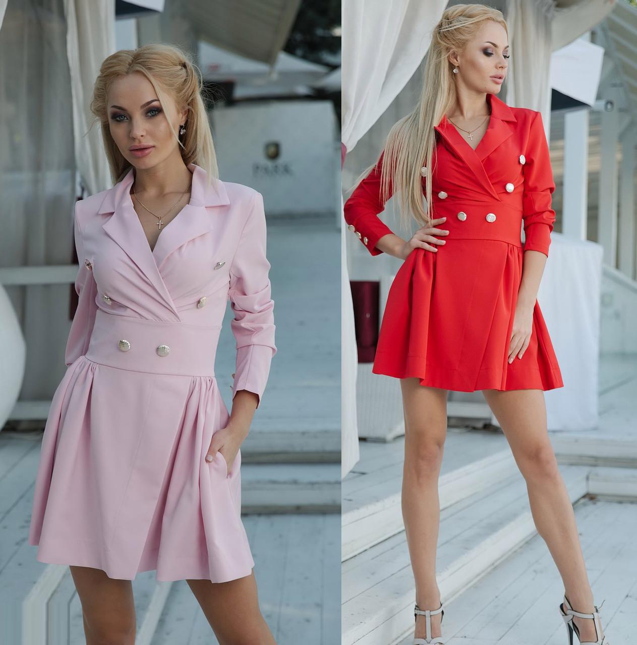 7c648227cd3 Женское стильное платье с карманами в юбке