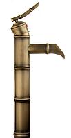 Смеситель Retro 1029 АF для умывальника эксклюзивный высокий (старое золото)