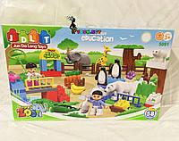Конструктор JDLT 5091 «Зоопарк» - аналог Lego Duplo, 58 дет