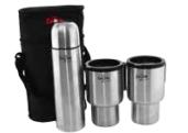 Набор в чехле: термос 0,5л + две чашки Thermo Bottle & Mug Set, 3шт