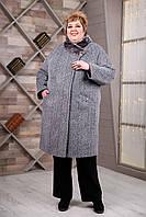 Пальто зимнее женское размеры 64-78 П-1097 и/м Dracena/50, фото 1