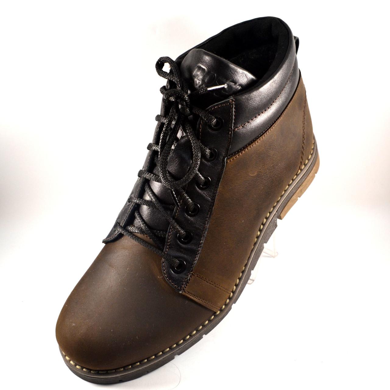 Коричневые зимние мужские ботинки Rosso Avangard. Bridge Mocha Brown кожаные